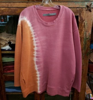 Raquel Allegra Oversize Sweatshirt Tie Dyed in Pink Sunrise 5328