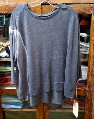 Raquel Allegra 3/4 Cocoon Top Tie Dyed in Night Grey 5940