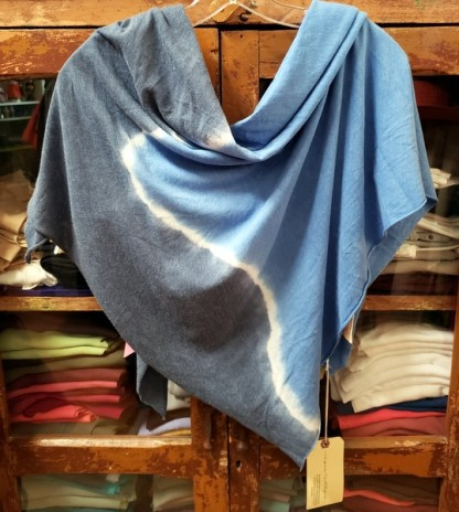 Raquel Allegra Square Scarf Tie Dyed in Sky 0603