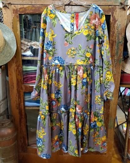 Ewa i Walla Dark Lavender Floral Dress 55619