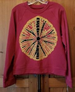 Raquel Allegra Tie Dyed Sweatshirt in Mars Z97-4024TD