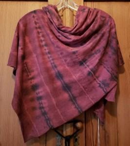 Raquel Allegra Square Scarf Tie Dyed in FIRE Z97-1745