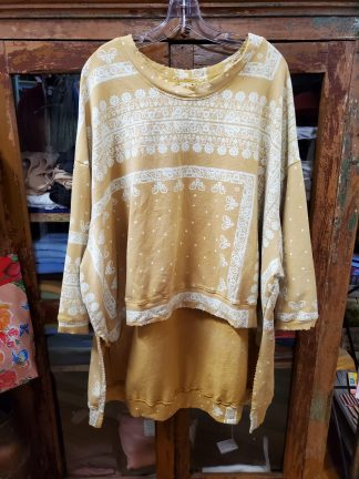 Magnolia Pearl Hi Lo Oversized Francis Pullover Top 604 in Goldrush