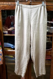 FLAX Ankle Pants In Natural
