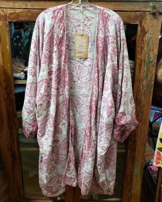 Magnolia Pearl Block Print Kimono Jacket 320 in Antje