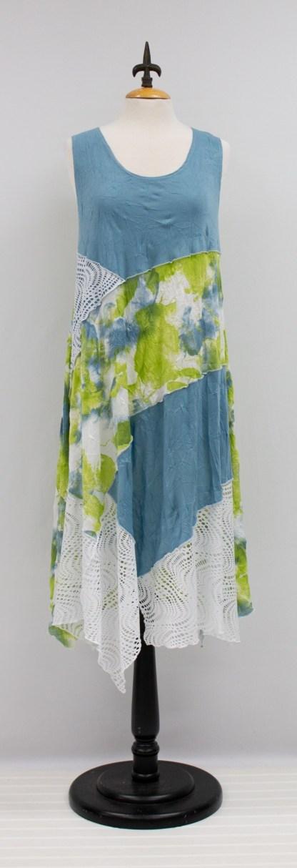 vine street apparel mixed dress sky 504
