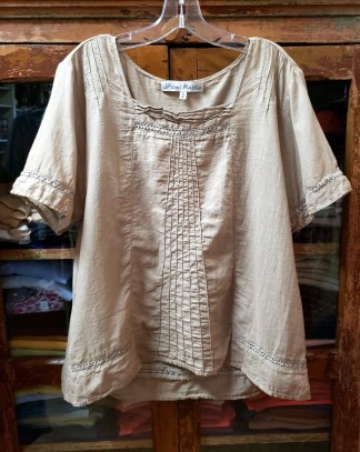 JP and Mattie Summer Blouse 3259 in tan