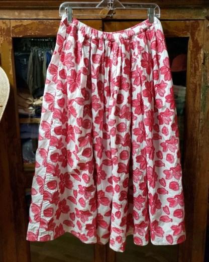 Manuelle Guibal Embroidered Raspberry Skirt 5707