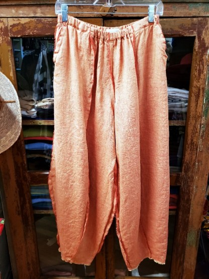 Krista Larson Tangerine Crossweave Origami Pants