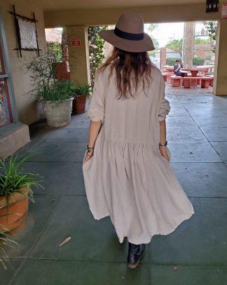 Metta Melbourne Faye Dress in Stone