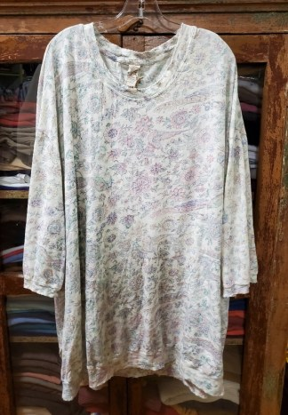 Magnolia Pearl Oversized Floral Print Francis Pullover Top 885 Acanthus Sun