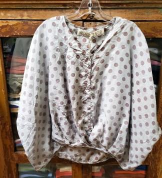 Magnolia Pearl Silk Alva Layering Blouse Top 883 Tidal