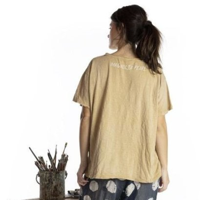 Magnolia Pearl Cotton Jersey Somewhere Over the Rainbow T Top 920 -Marigold