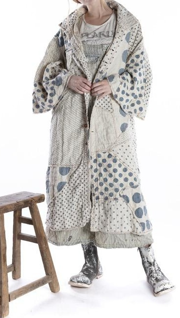 Magnolia Pearl Patchwork Sila Coat Jacket 468 -- Yayoi
