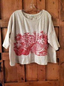 Krista Larson Shangri-La T-Shirt Crop Short Sleeve 1813 in Oat