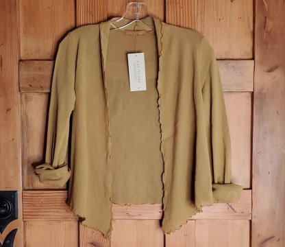 cut loose Cropped Cardigan - Tulle 2843 Brass