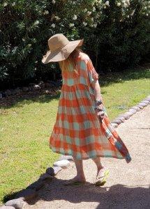 Veritecoeur VC-2262 Mint/Orange Dress