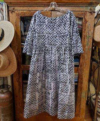 fahari Black and White Dress 1236