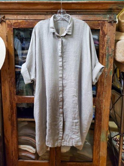 cut-loose Kimono Shirt Dress 1431 Rye