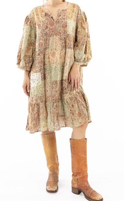 Magnolia Pearl Dharma Hand Block Print New Dress 346 Anise Rose Petal