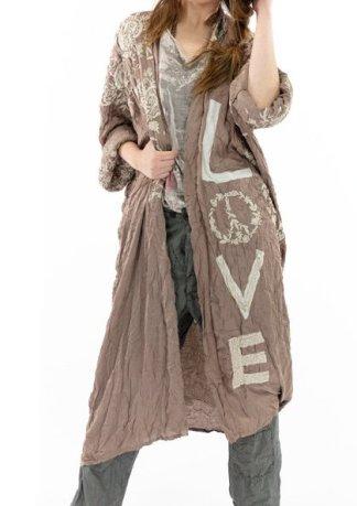 Magnolia Pearl Model Sating Blessed Kimono Jacket 505 Clay