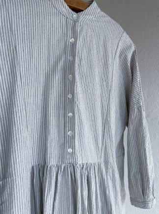 Metta Melbourne Faye Dress 5343 Seersucker Stripe