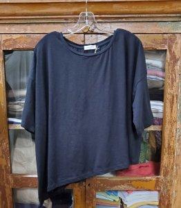 Krista Larson Crop Solid T-Shirt Short Sleeve 4527 Black