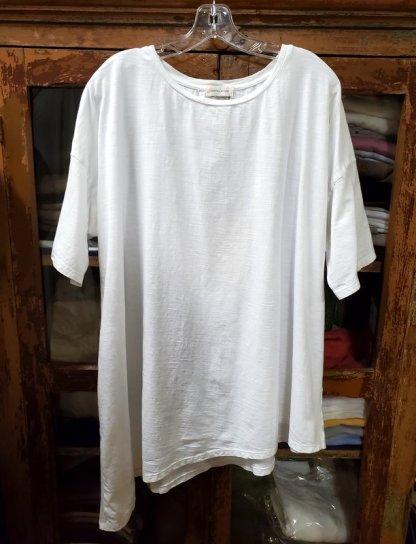 Krista Larson Solid T-Shirt Short Sleeve 5352 White