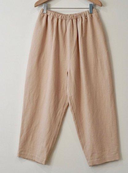 Amente -- Cropped Elastic Waist Pants 1024 Khaki