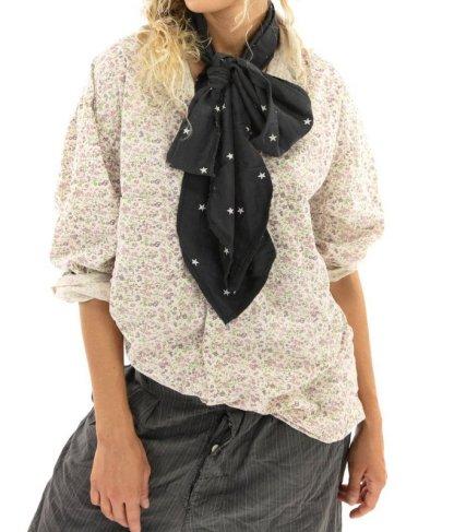 Magnolia Pearl Cotton Printed Boyfriend Shirt Top 1040 -- Willa