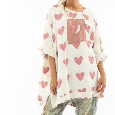 Magnolia Pearl Oversized Francis Sweatshirt Top 1053 Crush