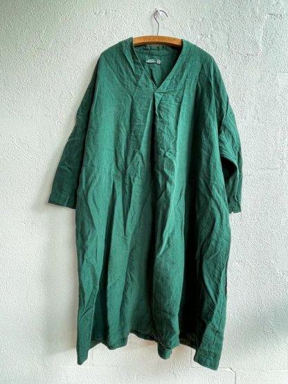 Metta Melbourne Ottilie V-Neck Dress 5487 Sycamore Green