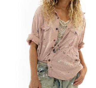 Magnolia Pearl Kelly Western Shirt Love Embro Top 1055 Bisou