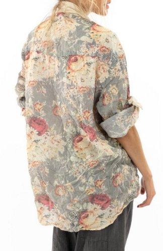 Magnolia Pearl Boyfriend Shirt Top 1080 Rose Garden
