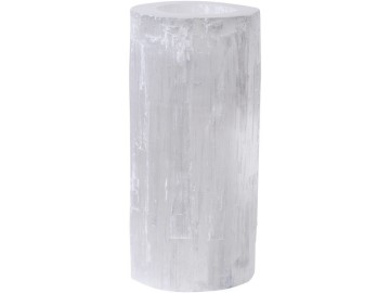 Selenite Tea Light Holder Cylinder