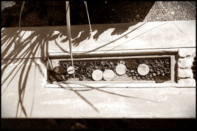 concrete tub sepia