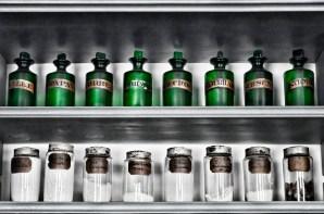 Green Glass Jars