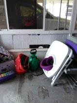 slob, humor, porch clutter