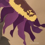 Purple Sunflower detail