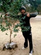Planting trees in Parque Sarmiento