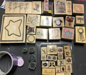 Floral and Image stamps