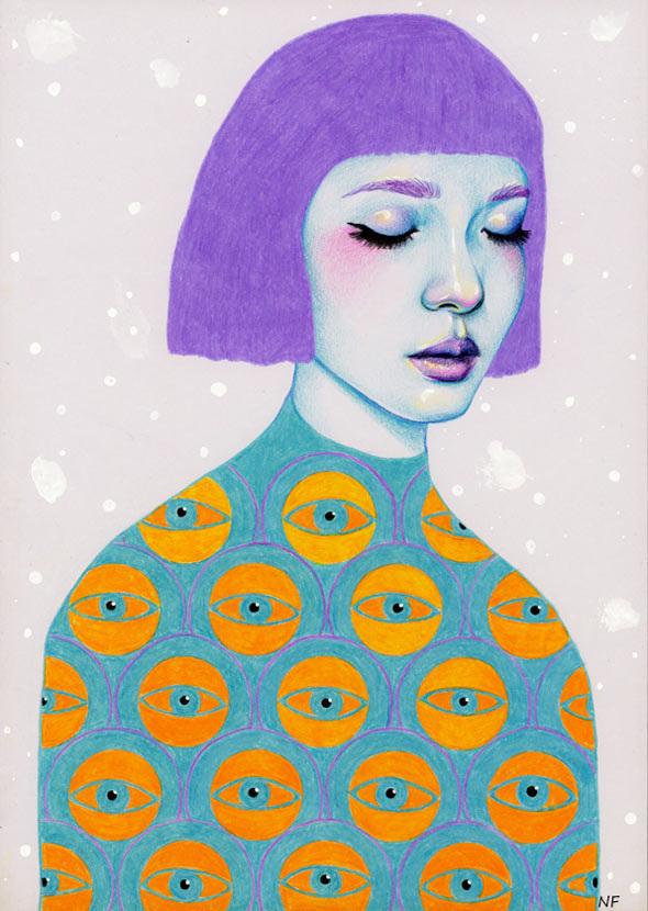 Crazy Girl Wallpaper Natalie Foss Illustrated Feelings Purple Woods