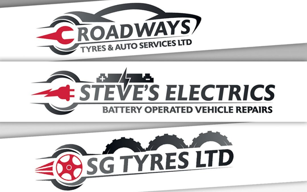 Roadways, Steve's Electrics and SG Tyres Logo's