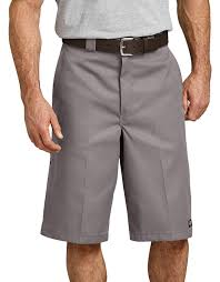"13"" LOOSE FIT MULTI-USE POCKET WORK SHORTS (SILVER)"