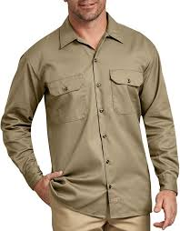 Long Sleeve Work Shirt (Khaki)