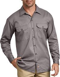 Long Sleeve Work Shirt (Silver)