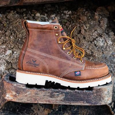 American Heritage – 6″ Trail Crazyhorse – Moc Toe – MAXwear90 (Steel Toe)