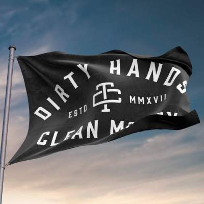 Dirty Hands Clean Money Flag (DHCM)