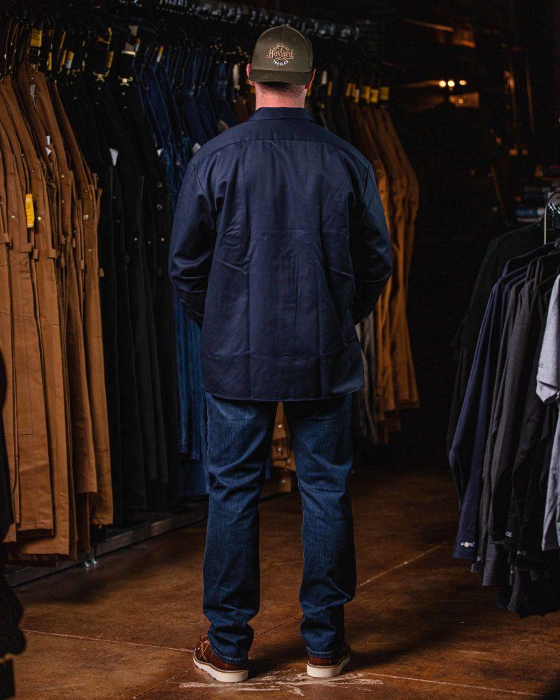Long Sleeve Work Shirt (Dark Navy)