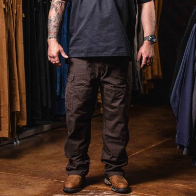 Riggs Workwear Ripstop Ranger Cargo Pant (Dark Brown)